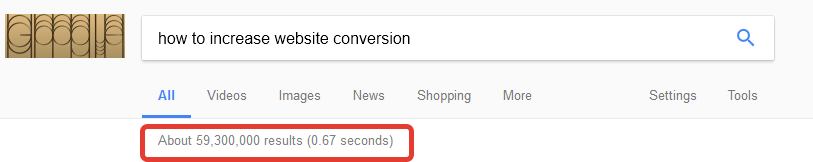 Google has over 53M results for conversion improvement